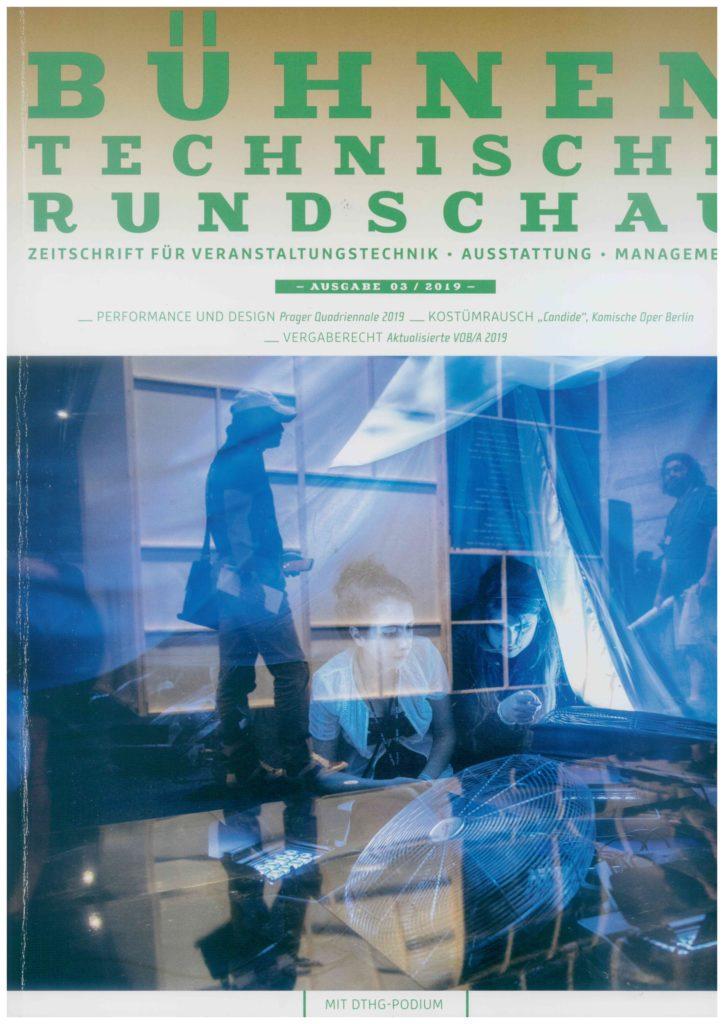 Bühnentechnische Rundschau, Ausgabe 03/2019 mit Bericht über DEAplus auf Seite 12